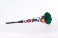 Vuvuzela. Image of a Vuvuzela with soccer world cup team flags on Stock Photography
