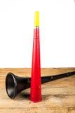 Vuvuzela for football fans. Noisy soccer fan equipment vuvuzela stock images