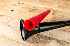 Vuvuzela for football fans. Noisy soccer fan equipment vuvuzela royalty free stock images