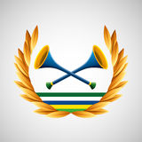 Vuvuzela olympic games emblem Royalty Free Stock Image