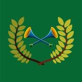 Vuvuzela olympic games emblem Stock Photo