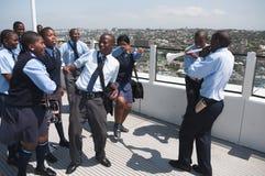 Vuvuzuelamania, Zuid-Afrika Stock Afbeeldingen