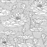 Vuxen antistress färgläggningsida Arkivbild