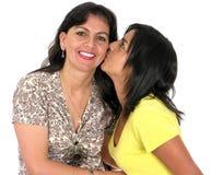vuxen dotter henne moder Arkivfoto