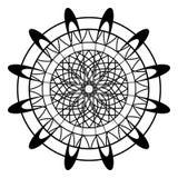 Vuxen färgläggningbok med fjärilen i blommasidor, zentanglevektorillustration för konstterapi, vykort, t-skjorta tryck Boho vektor illustrationer