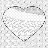 Vuxen färgläggningsida för hjärta Royaltyfria Foton