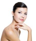 vuxen härlig clean ny hudkvinna Royaltyfri Fotografi