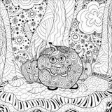 Vuxen människa halloween för färgläggningbok royaltyfri illustrationer