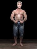 Vuxen muscleman arkivbilder