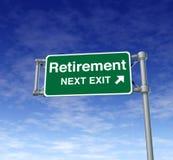 vuxen pensionär för frihetsreträttsignalavgång Arkivfoton