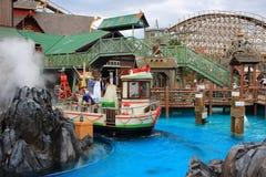 Vuxen rolig Island för vattenhandling inställning Royaltyfria Foton