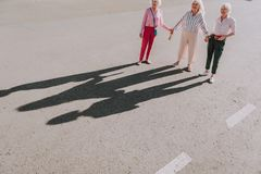 Vuxna kvinnor gör det idérika fotoet tillsammans arkivfoton