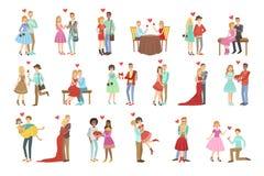 Vuxna människan kopplar ihop förälskat royaltyfri illustrationer
