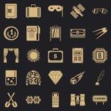 Vuxna människan spelar symboler ställde in, enkel stil vektor illustrationer
