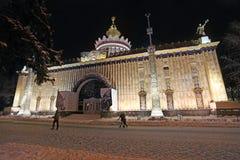 VVC (HDNH anterior) parque en noche del invierno, Moscú Fotografía de archivo