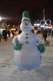 VVC (HDNH anterior) parque en noche del invierno, Moscú Foto de archivo libre de regalías