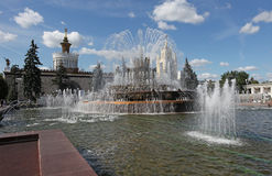 VVC Moscow, Stone Flower Fountain Stock Image