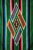 vävd mexikansk sarape Arkivfoto