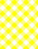 vävd yellow för gingham jpg Royaltyfri Bild