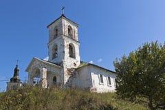Vvedensky教会在Goritsy沃洛格达州地区村庄  库存图片