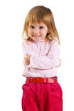 Vvertical portrait of a cute little girl Stock Photography