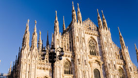 Vview von Mailand-Kathedrale am synset Lizenzfreies Stockbild