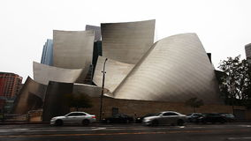 A vView of The Walt Disney Concert Hall in Los Angeles, California. View of The Walt Disney Concert Hall in Los Angeles, California stock video footage