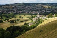 VView zu Stroud, Gloucestershire, England stockbild