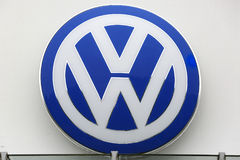 VW商标 免版税图库摄影