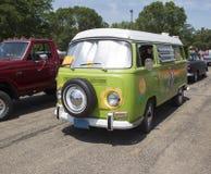 1968 VW嬉皮露营车专辑范 库存图片