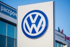 VW经销权商标立场 图库摄影