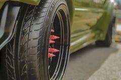 VW轮子轮胎坚果涡轮 库存照片