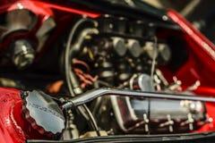 VW轮子轮胎坚果涡轮 库存图片