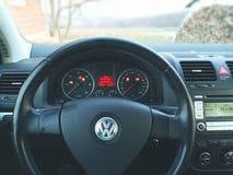 VW高尔夫球mk5 免版税图库摄影