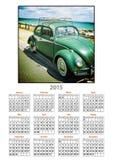 VW года сбора винограда 2015 календарей Стоковое Изображение RF