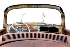 VW anziano tramite il parabrezza Fotografia Stock Libera da Diritti