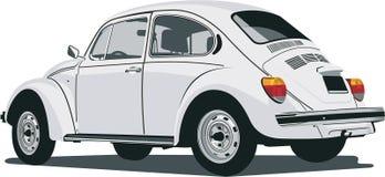 VW arrière de vue de coléoptère illustration de vecteur