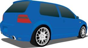 VW azul GTI Fotografía de archivo