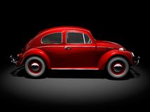 VW Beetle 1. Side of VW Beetle on black background Royalty Free Stock Photography