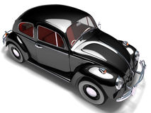 VW Beetle 11. 3D render of VW Beetle on white background Stock Photo