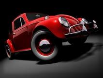 VW Beetle 2. 3D render of VW Beetle on black background Royalty Free Stock Photos