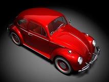 VW Beetle 3. 3D render of VW Beetle on black background Stock Photo