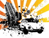 VW Beetle. Star vector illustration Royalty Free Stock Image