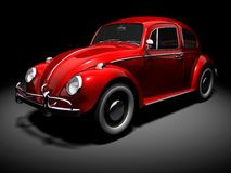 VW Beetle 5. 3D render of VW Beetle on black background Royalty Free Stock Image