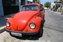 VW Beetle in Brazil Royalty Free Stock Images