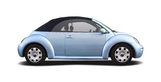 VW Beetle Cabrio. Side view isolated on white stock photo