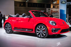 VW Beetle at the Chicago Auto Show Royalty Free Stock Images