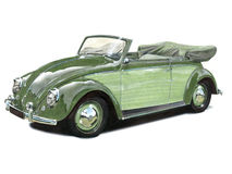 VW Beetle Convertible. Illustration of an early Volkswagen Beetle Convertible stock illustration