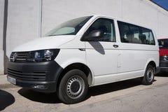 VW bianco Van Fotografia Stock