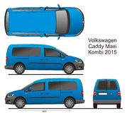 VW Caddy Maxi Combi 2015 Royalty Free Stock Photography